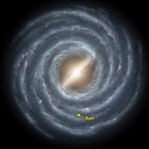 Recración de la Vía Láctea | NASA/JPL-Caltech/R. Hurt (SSC)