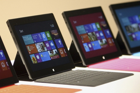 La nueva tableta 'Surface' de Microsoft. | Reuters