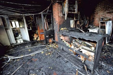 Destrozos en un colegio en Amiens, al norte de Francia. | Afp