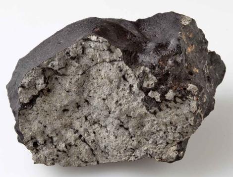 Fragmento del meteorito de más de un kilogramo. | Museo de Historia Natural de Londres