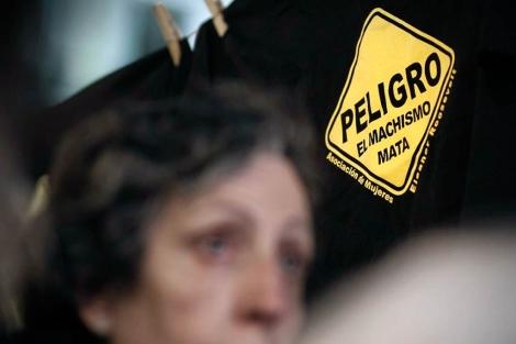 Concentración en Madrid contra la violencia de género.   Alberto di Lolli