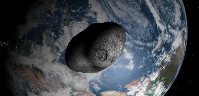 Recreación artística del asteroide '99942 Apophis'. | El Mundo