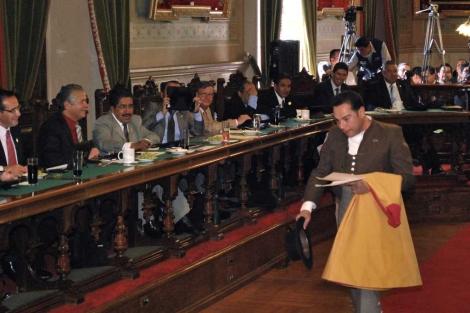 Guillermo Romo, en el Congreso. | Efe