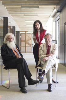 ARoca, Nieto y Moneo, en la sede del COAM.   J. Nadales
