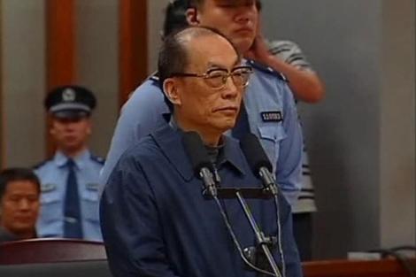 El ex ministro de Ferrocarriles, Liu Zhijun, en una vista del juicio ln pasado junio.  Reuters