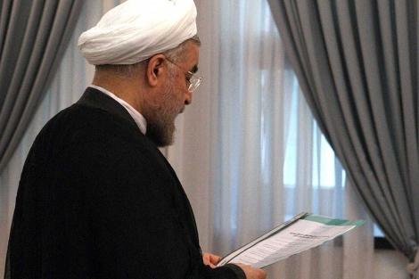 Hasan Rohani, durante la jura de su cargo como presidente de Irán. | Efe