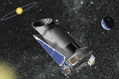 Recreación artística del telescopio 'Kepler'.  NASA