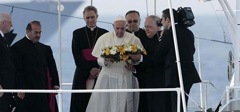 El Papa, el pasado julio en Lampedusa . | Afp