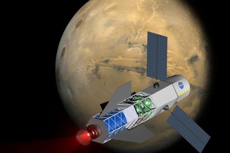 Concepto de MSNW para una nave de fusión.   MSNW/NIAC/NASA