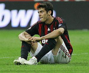 Kaká, el pasado domingo en el encuentro Milan-Juve. (Foto: EFE)