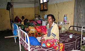 Pabellón de tuberculosos en Madagascar. (Foto: R.M Tristán)