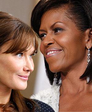 Carla Bruni y Michelle Obama, dos primeras damas con carisma.