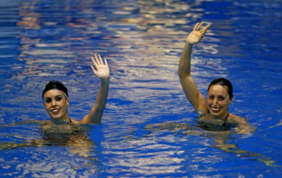 Ona Carbonell y Gemma Mengual, durante la presentación del equipo...