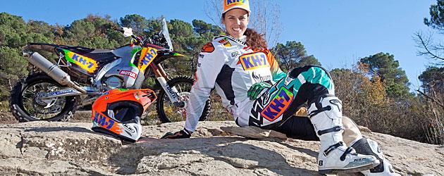 Laia Sanz: Me gustaría acabar el Dakar entre los 30 primeros
