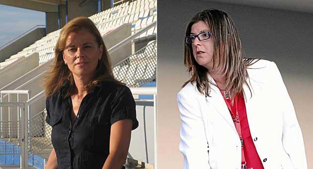 Victoria Pavón (Leganés) e Isabel Tarragó (Llagostera), presidentas de la LFP /