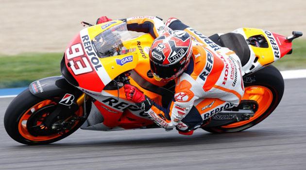 Márquez rodando en la carrea de Indianápolis / Foto: MotoGP.com