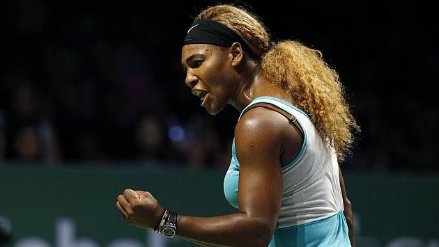 Serena Williams (33) celebra un punto en la final del Masters de Singapur. Foto: Edgar Su