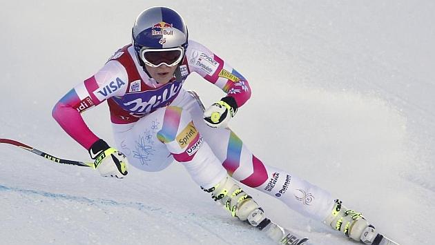 Lindsey Vonn vuelve a mostrarse intratable en el descenso