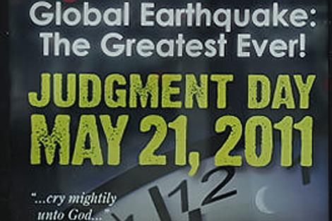 """""""¡Terremoto global! El mayor de todos los tiempos. Día del juicio final: 21 de mayo"""""""