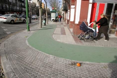 Acera bici de Sevilla