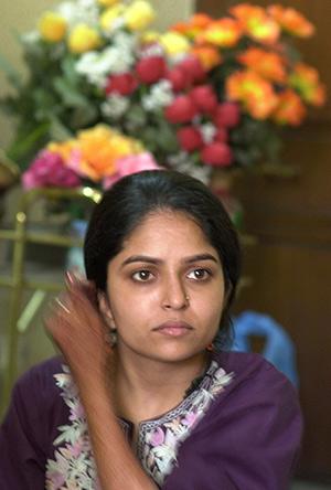 La joven india Nisha Sharma denunció a su novio por pedirle más dote. (Foto: AP)