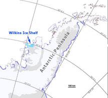 Localización de la plataforma Wilkins. | ESA