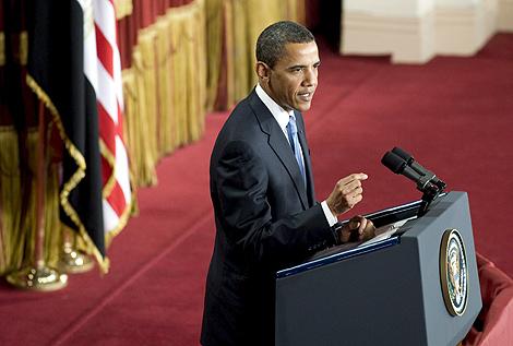 Obama, durante su intervención en El Cairo. | AP
