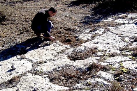 Huellas de los dinosaurios descubiertas en Teruel.  Dinópolis