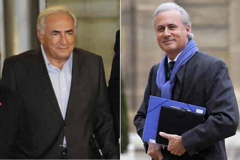Strauus-Kahn, tras su arresto domiciliario, y Tron. | AP/Reuters