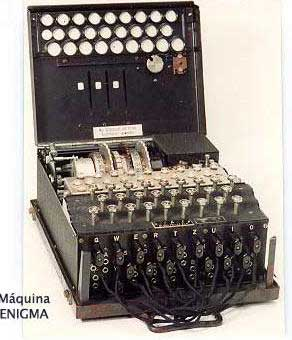 La máquina 'Enigma', usada por los nazis.
