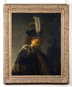 El óleo atribuido a Rembrandt. | Efe