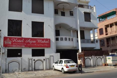 El hotel de Agra en el que la turista británica saltó. | Afp