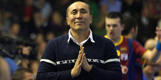 Talant Dujshebaev, entrenador del Atlético de Madrid.