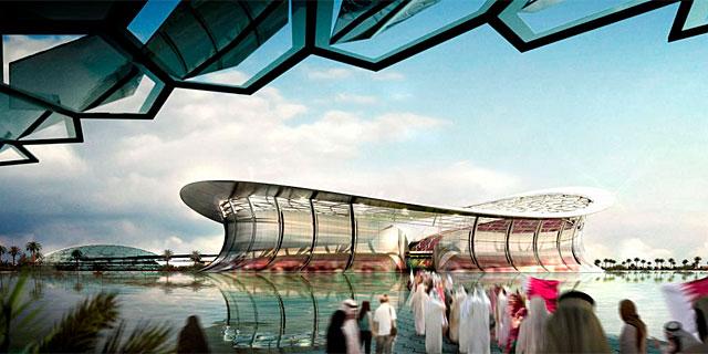 Recriando um dos estádios para a Copa do Mundo de 2022.