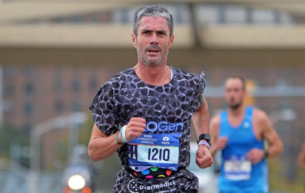 Martín Feiz, en el maratón de Nueva York.
