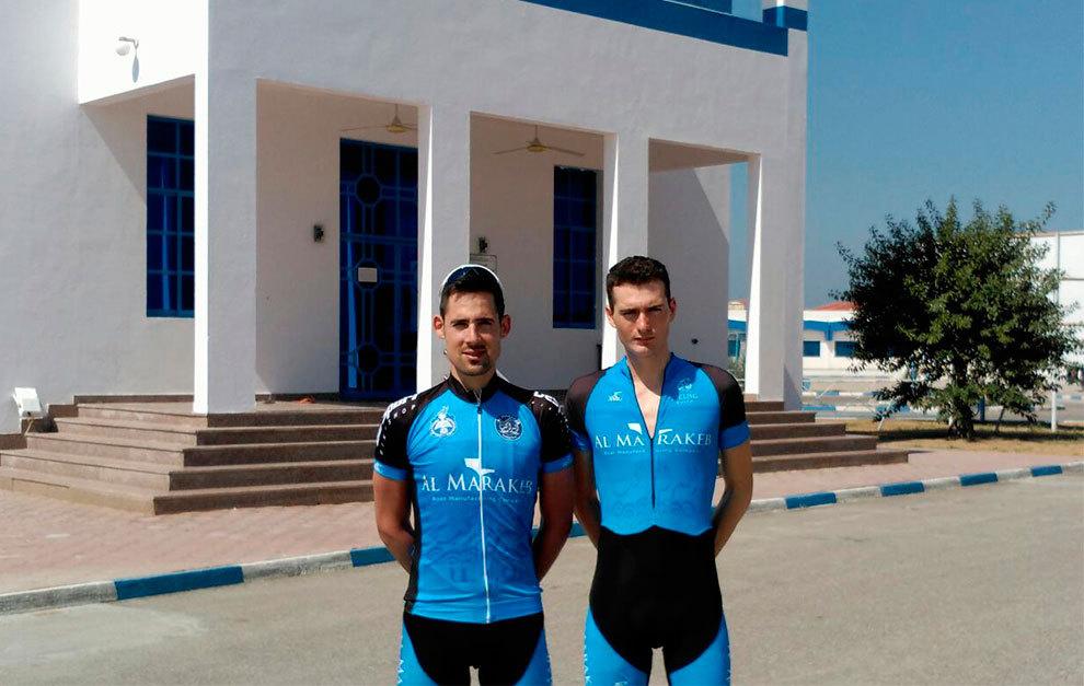 Egoitz García y Alain Santamaría posan durante una de sus jornadas...