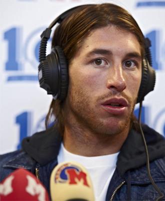 Sergio Ramos, en un momento de la entrevista con Radio MARCA.