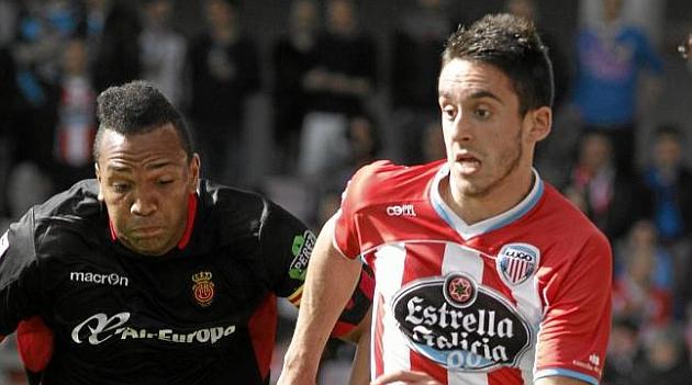 Iago Díaz, en un encuentro de la temporada pasada. Foto: Luisa Portela