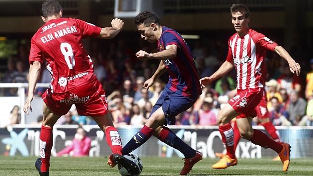 Munir, durante uno de los encuentros ante el Girona de esta temporada. Foto: Francesc Adelantado
