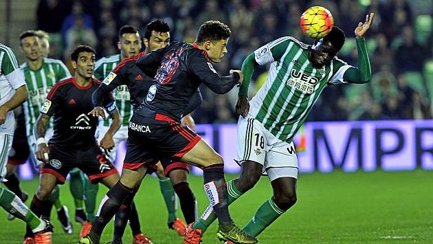 Diego Alende, en el partido ante el Betis