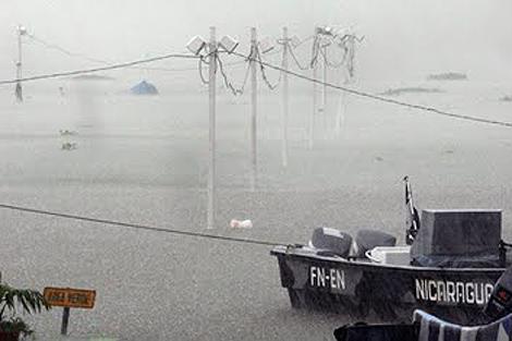Puerto Salvador Allende tras las lluvias de 2008 (Particular)