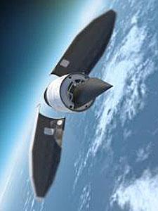 Cohete que lanzó el Falcon HTV-2. | AP