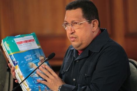 Imagen del Hugo Chávez del 31 de marzo de 2012 en una rueda de prensa en Miraflores.| Efe