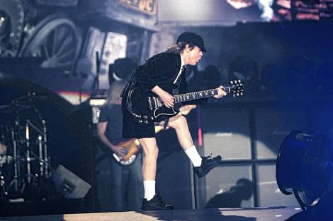 Angus Young en un gesto característico. | Justy García Koch