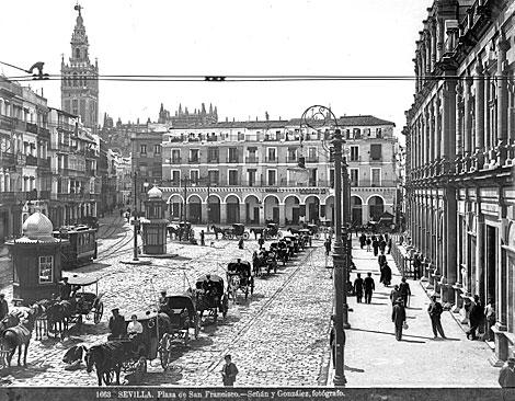 La plaza de San Francisco a principios del siglo XX. | Señán