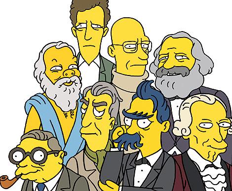 La 'premier league' de los filósofos, según Los Simpson. | El Mundo