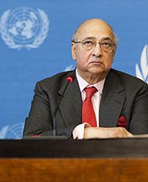 De Silva, en la presentación del informe. | Reuters