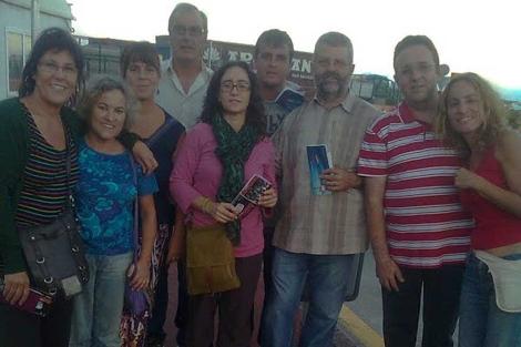 Algunos de los activistas retenidos en el puerto de El Aaiún. | Foto: tenerifeconelsahara.