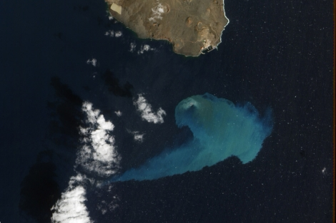 Imagen de El Hierro finalista en el concurso de la NASA.   NASA