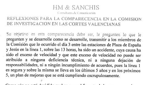 Introducción del informe preparado por la consultora HM & Sanchis.